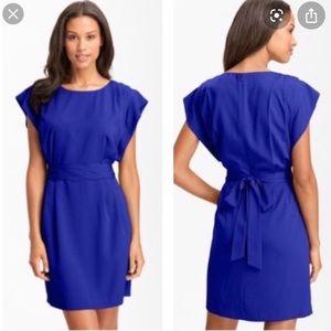 Eliza J Cobalt Blue Sashed Dress